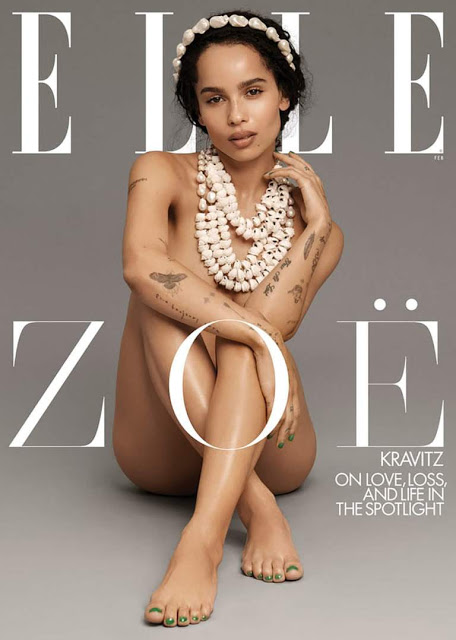 Fantastic beast and Cat woman star, Zoe Kravitz ELLE magazine photoshoots 3