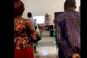 Nigerian mother makes her family dress up for 'church service' in their home (video) 73