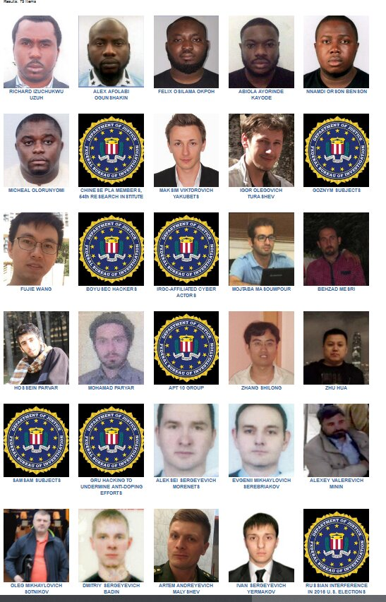 Nigerians castigate FBI for only posting 6 Nigerians on the wanted list when there are more numbers of suspects from other nationality 2